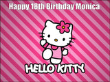 Hello Kitty Edible Icing Cake Topper 01
