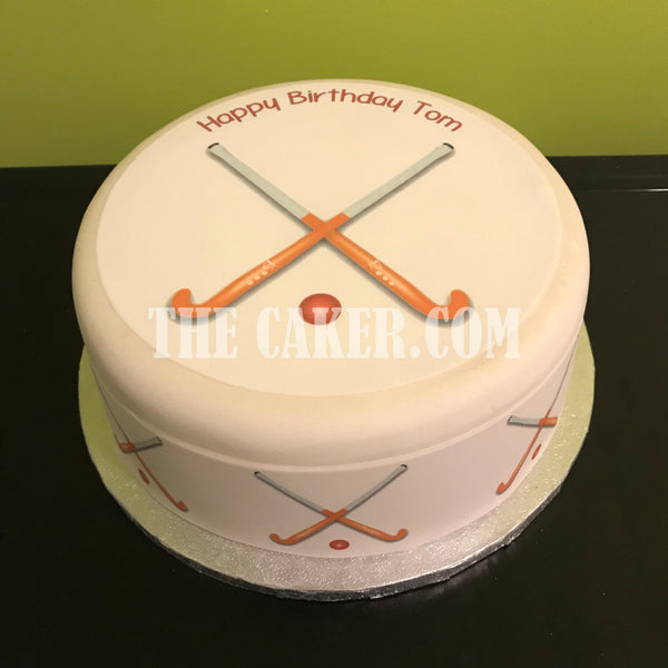 Hockey Edible Icing Cake Topper 01
