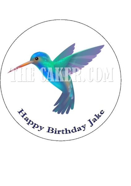 Hummingbird Edible Icing Cake Topper