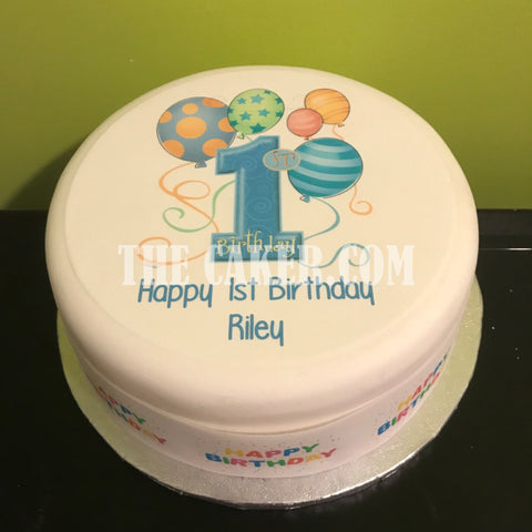 01 1st Birthday Edible Icing Cake Topper 05