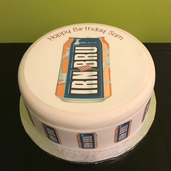 Irn Bru Can Edible Icing Cake Topper