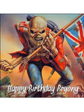 Iron Maiden Edible Icing Cake Topper 01