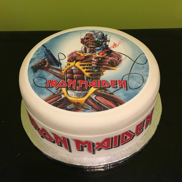 Iron Maiden Edible Icing Cake Topper 03