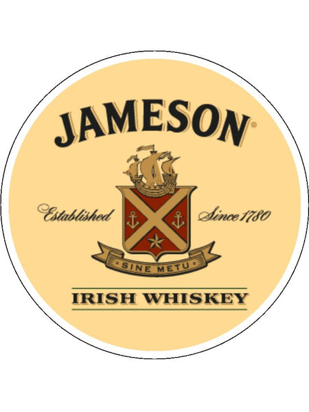Jameson Whisky Logo Edible Icing Cake Topper