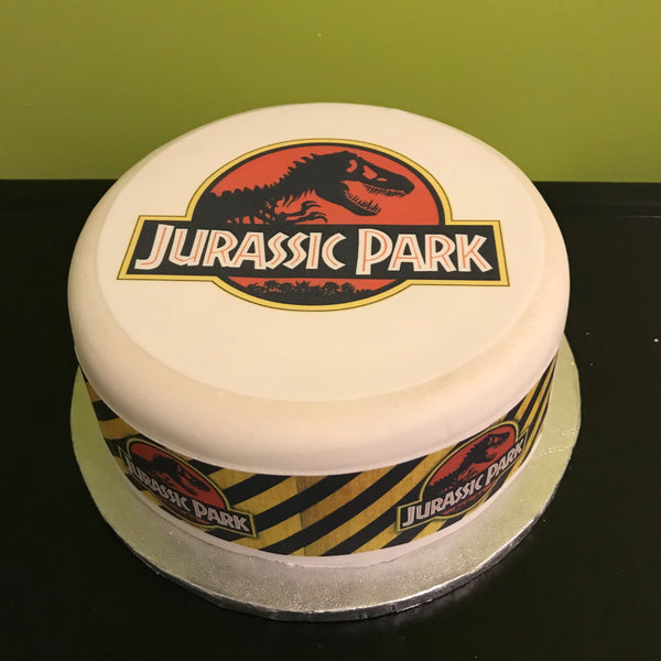 Jurassic Park Edible Icing Cake Topper