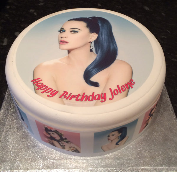Katy Perry Edible Icing Cake Topper 01