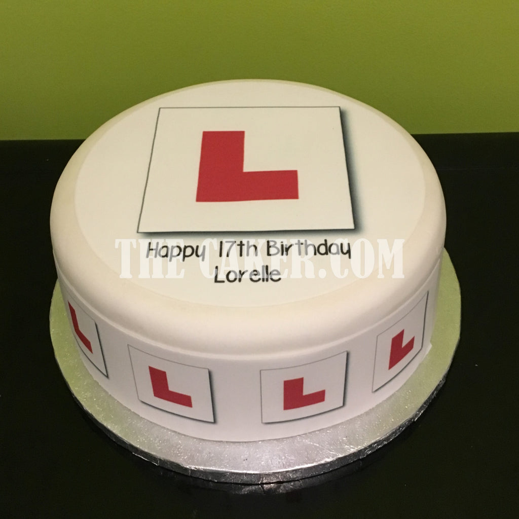 & L Plates Edible Icing Cake Topper u2013 the caker online
