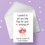 Lady Gaga Funny Greeting Card