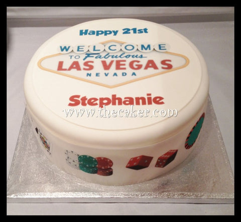 Las Vegas Sign Edible Icing Cake Topper 01
