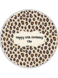 Leopard Print Edible Icing Cake Topper