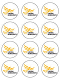 Liberal Democrats Party Edible Icing Cake Topper