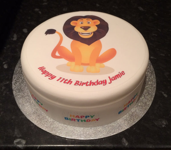 Lion Edible Icing Cake Topper 02