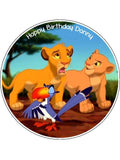 Lion King Edible Icing Cake Topper 01