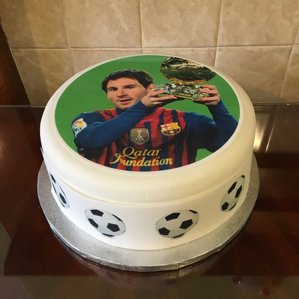 Lionel Messi Edible Icing Cake Topper 03