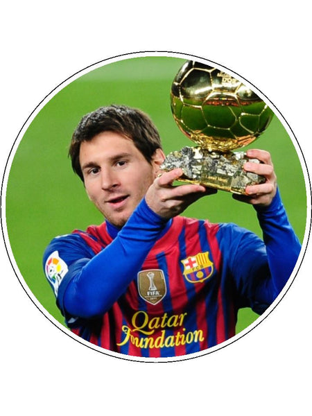 Lionel Messi Edible Icing Cake Topper 03 The Caker Online