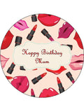 Make Up Beauty Edible Icing Cake Topper 06