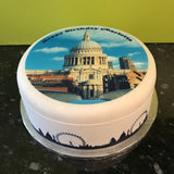London Skyline 01 Edible Cake Ribbon, Border (3 x pre-cut strips)