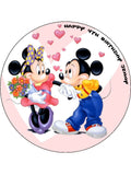 Mickey & Minnie Mouse Edible Icing Cake Topper 01