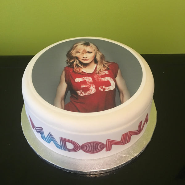 Madonna Edible Icing Cake Topper 02