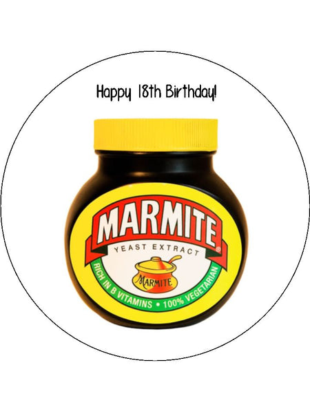 Marmite Edible Icing Cake Topper