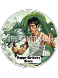 Bruce Lee Edible Icing Cake Topper 02