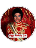 Michael Jackson Edible Icing Cake Topper 02