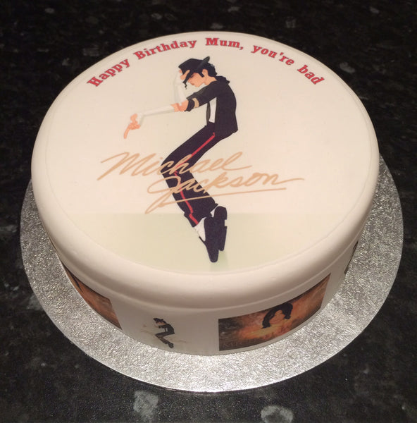 Michael Jackson Edible Icing Cake Topper 03