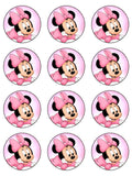 Minnie Mouse Edible Icing Cake Topper 01