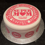 Mother's Day Edible Icing Cake Topper 03