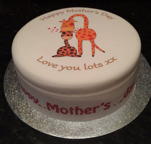 Mother's Day Edible Icing Cake Topper 09