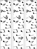Music Notes Black & White Edible Icing Cake Topper 01