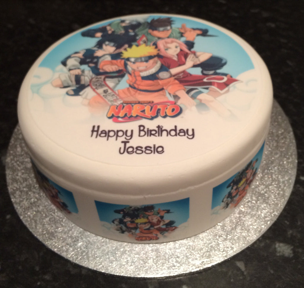 Cool Naruto Edible Icing Cake Topper 03 The Caker Online Funny Birthday Cards Online Inifodamsfinfo