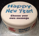Happy New Year Edible Icing Cake Topper 02