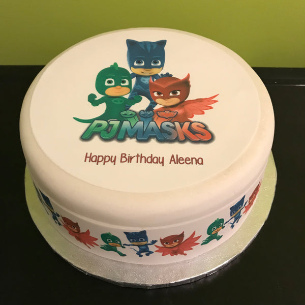 PJ Masks Edible Icing Cake Topper 01