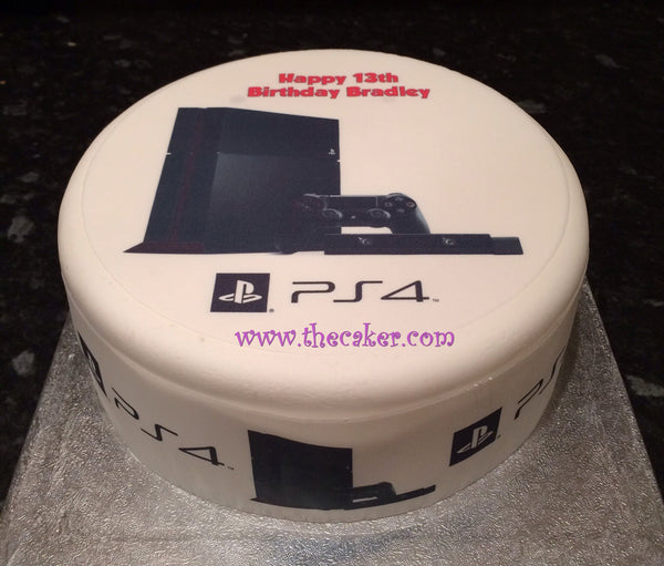 Playstation PS4 Console Edible Icing Cake Topper