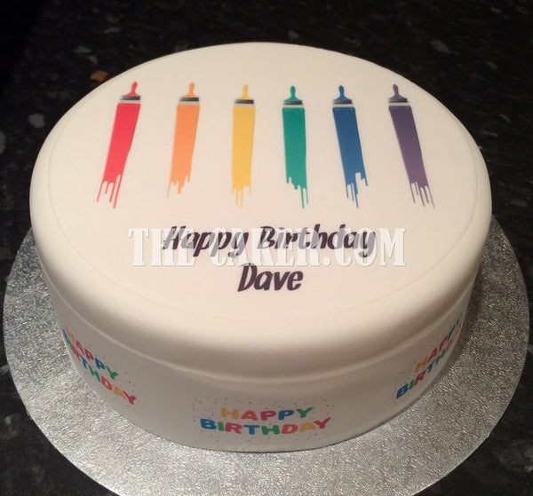 Painter & Decorator Edible Icing Cake Topper 01