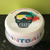 Paintball Edible Icing Cake Topper 04