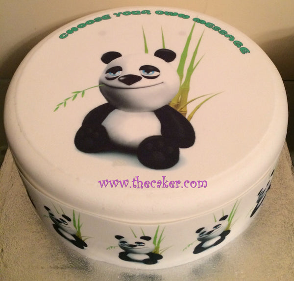 Panda Bear Cartoon Edible Icing Cake Topper 01