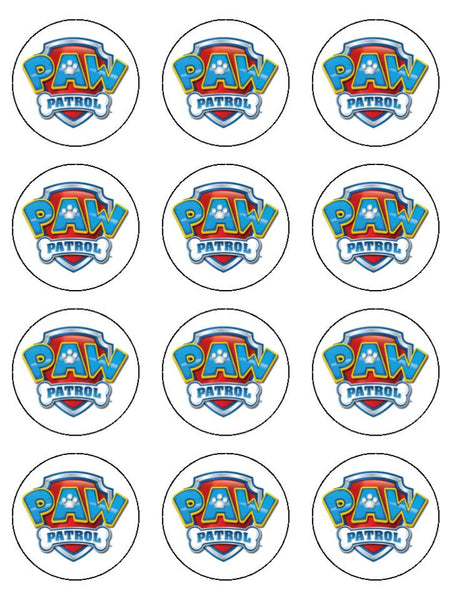 Paw Patrol Logo Edible Icing Cake Topper The Caker Online