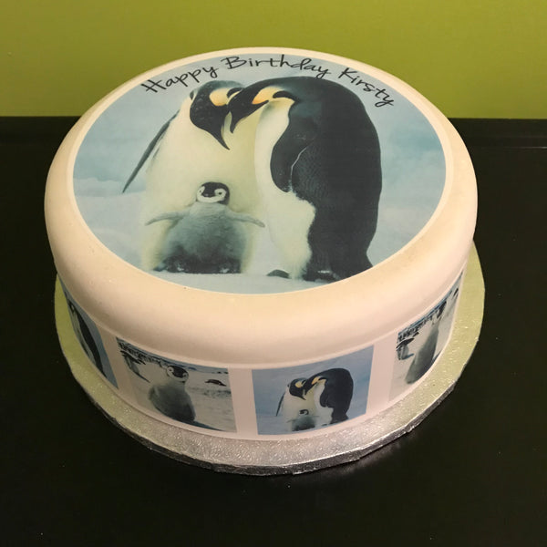 Penguin Edible Icing Cake Topper 01