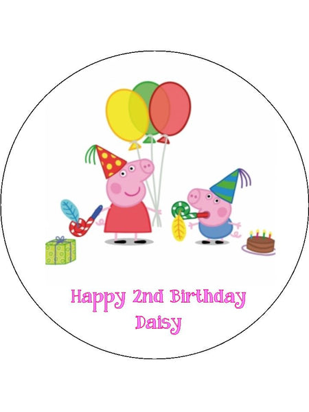 Peppa Pig Edible Icing Cake Topper 02