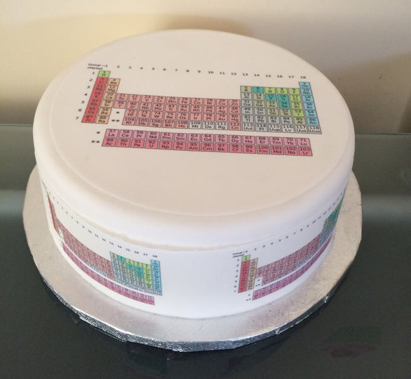 Periodic Table Science Edible Icing Cake Topper