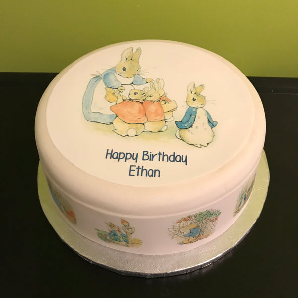 Peter Rabbit Edible Icing Cake Topper 01