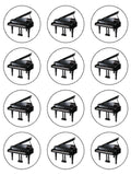 Piano Edible Icing Cake Topper 01