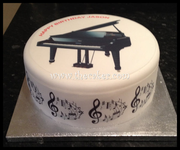 Piano Edible Icing Cake Topper
