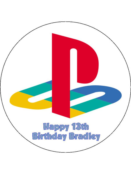 Playstation Logo Edible Icing Cake Topper The Caker Online