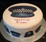 Police Helmet Edible Icing Cake Topper 02