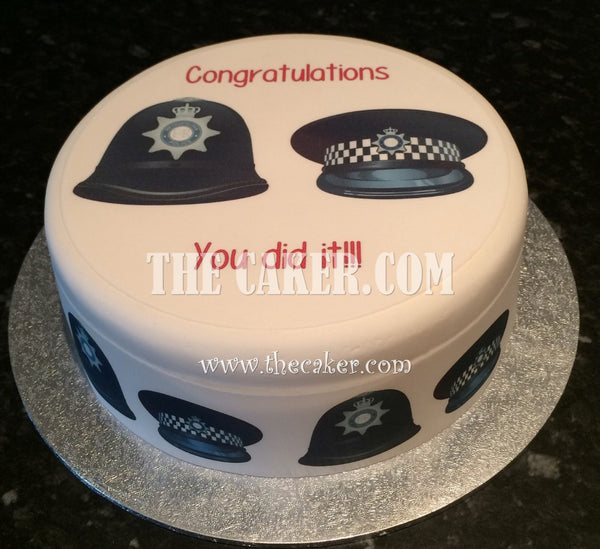 Police Helmets Edible Icing Cake Topper