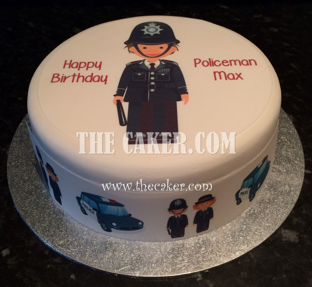 Admirable Police Officer Policeman Edible Icing Cake Topper The Caker Online Funny Birthday Cards Online Hendilapandamsfinfo