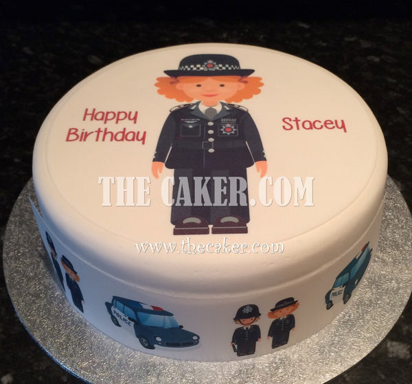 Police Officer Policewoman Edible Icing Cake Topper